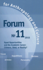 Forum for Anthropology and Culture № 11. 2015